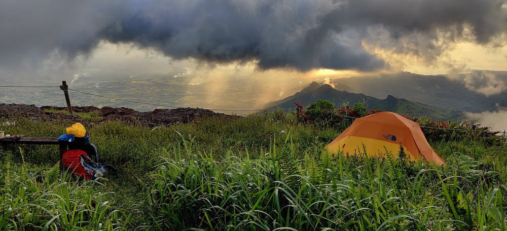 Camping on Mt Batilamu