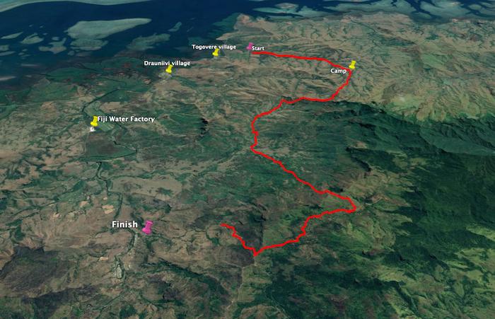 Google Earth image of Yaqara route