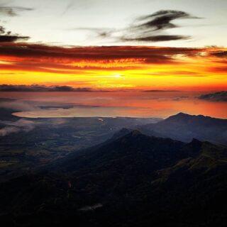 Diwali sunset on Mt Batilamu. Now that is a view! #hiking #hikingfiji #trekkingfiji #fijisunset #talanoatreks #tourismfiji